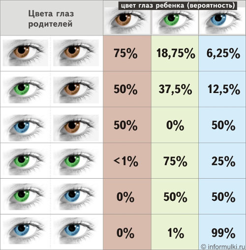 Наследование цвета глаз